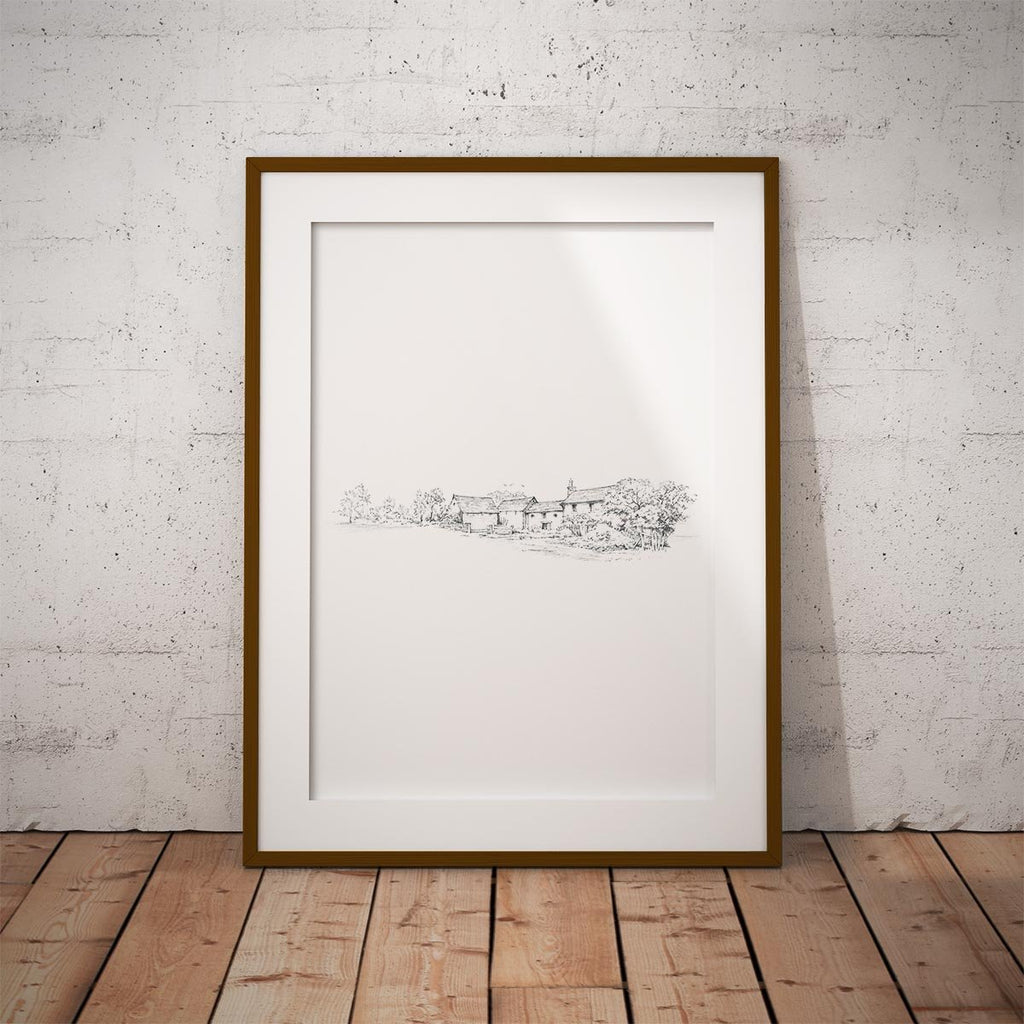 Country Farm House Wall Art Print - Countryman John