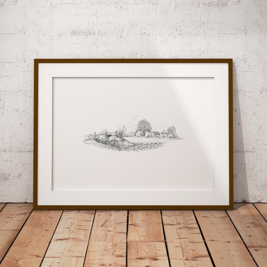 Idle Plough Wall Art Print - Countryman John