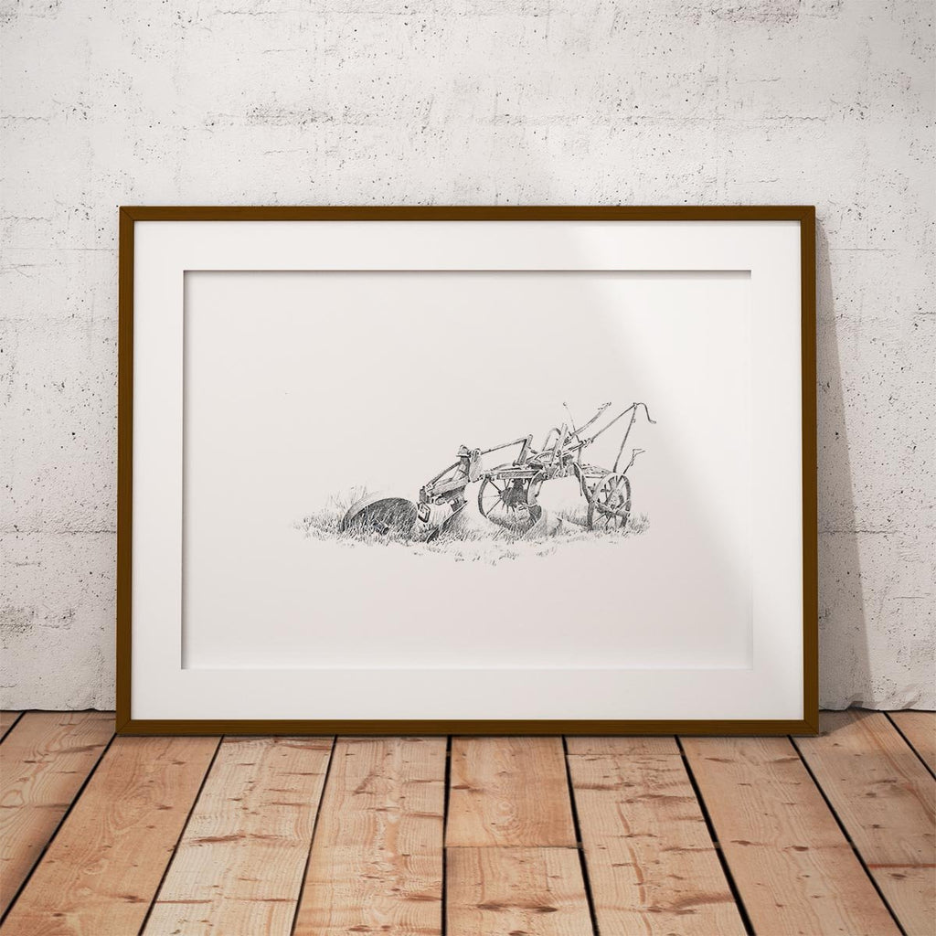 Old Plough Wall Art Print - Countryman John
