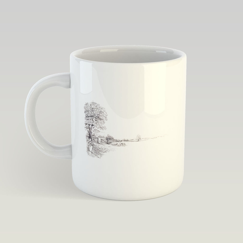Tree and Gate Mug - Countryman John