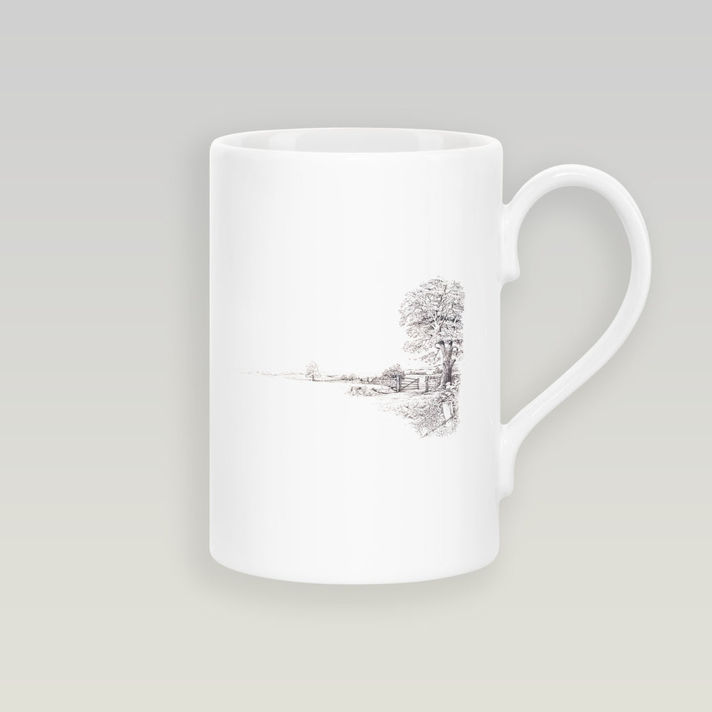 Tree and Gate Slim Mug - Countryman John