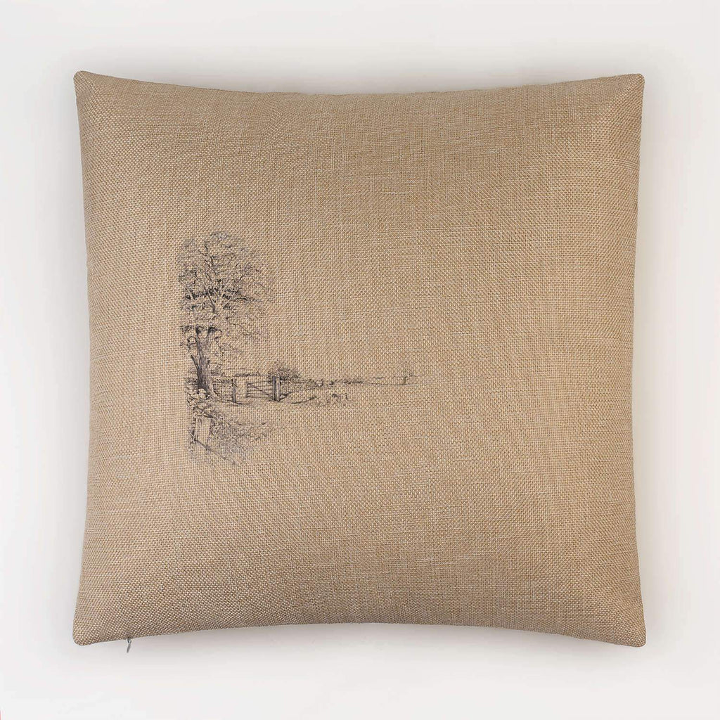 Tree and Gate Cushion - Countryman John