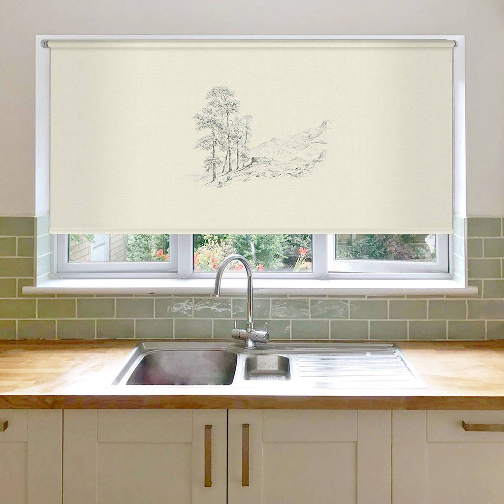 Tree and Hills Roller Blind
