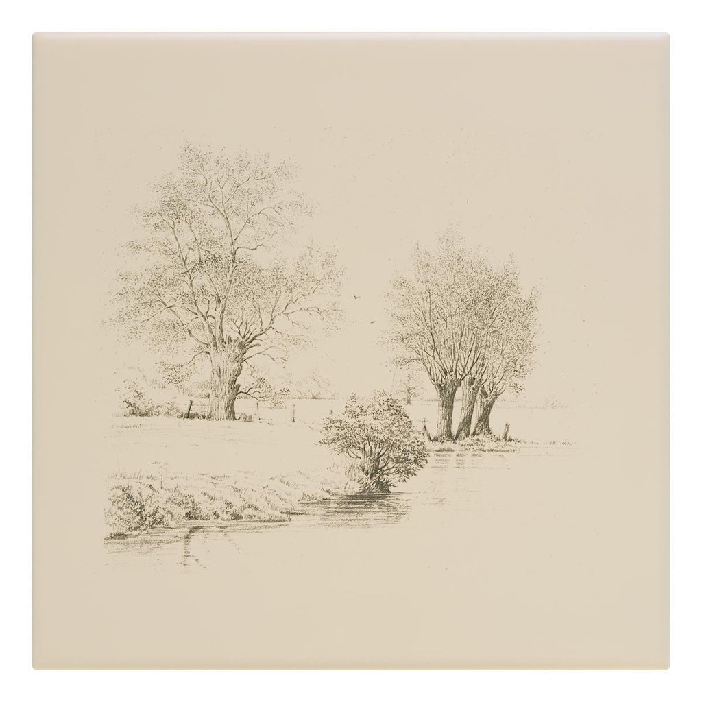 Trees along the Riverbank Tile - Countryman John