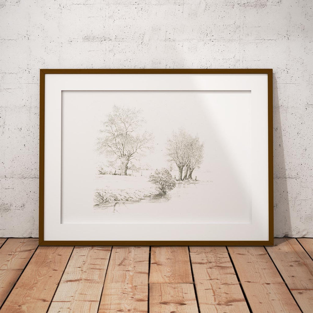 Trees along the Riverbank Wall Art Print - Countryman John