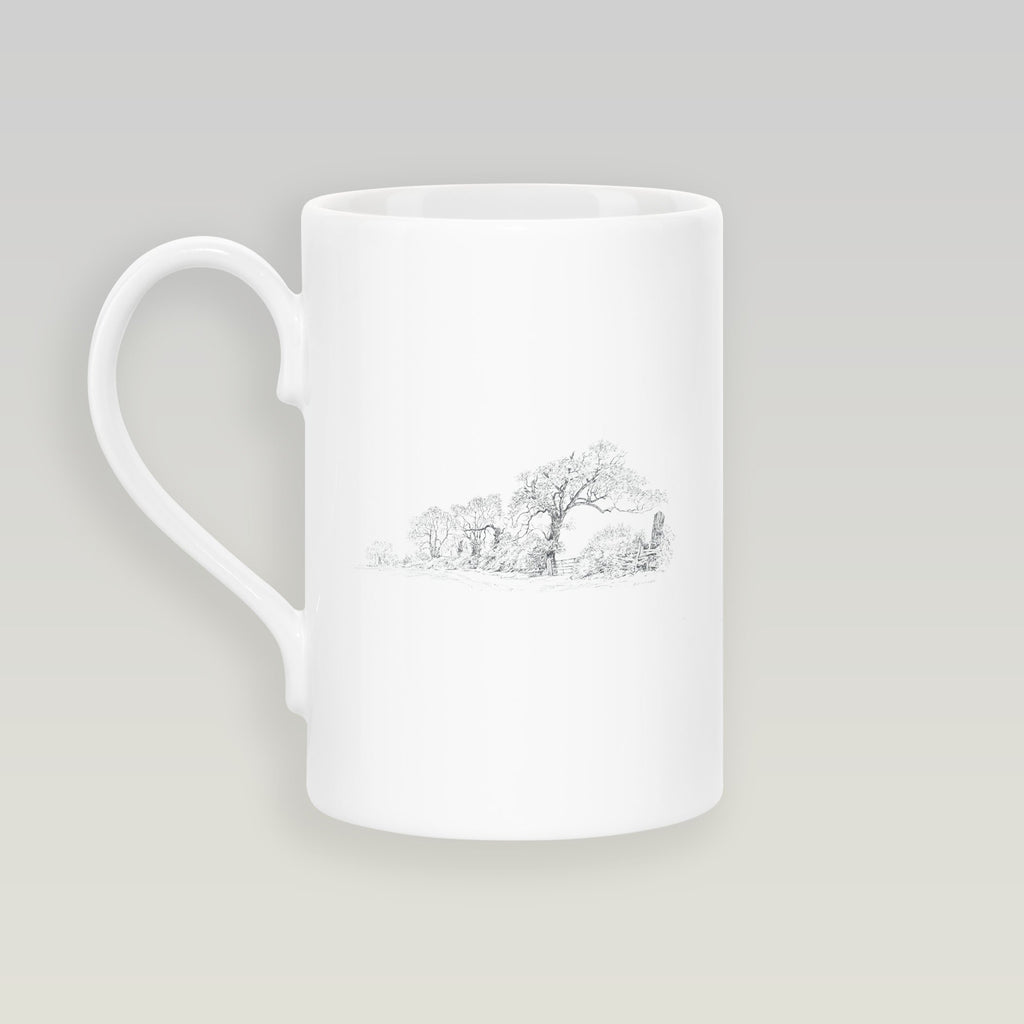 Trees and Lane Slim Mug - Countryman John