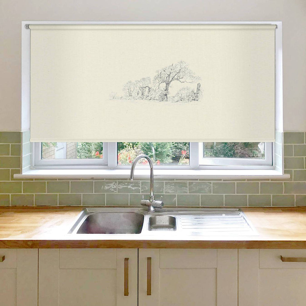 Trees and Lane Roller Blind