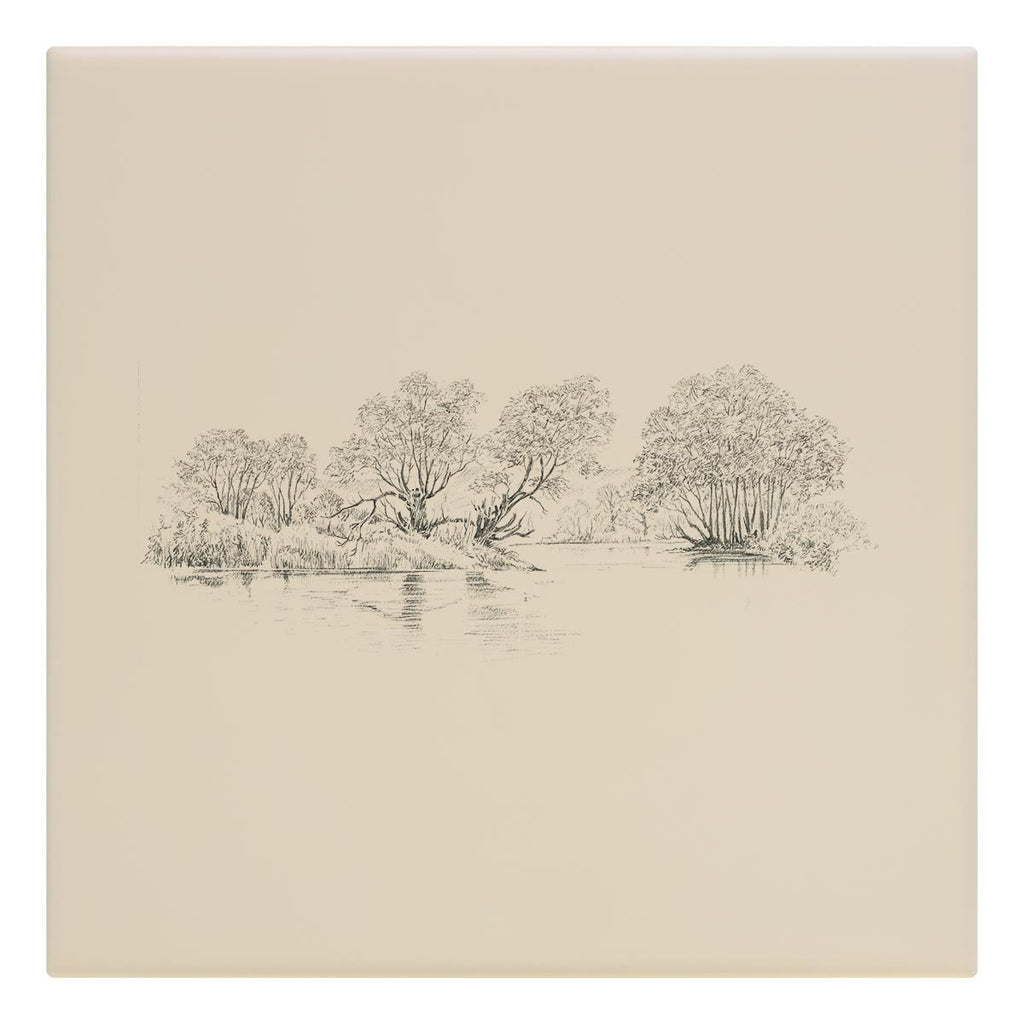 Trees and Pond Tile - Countryman John