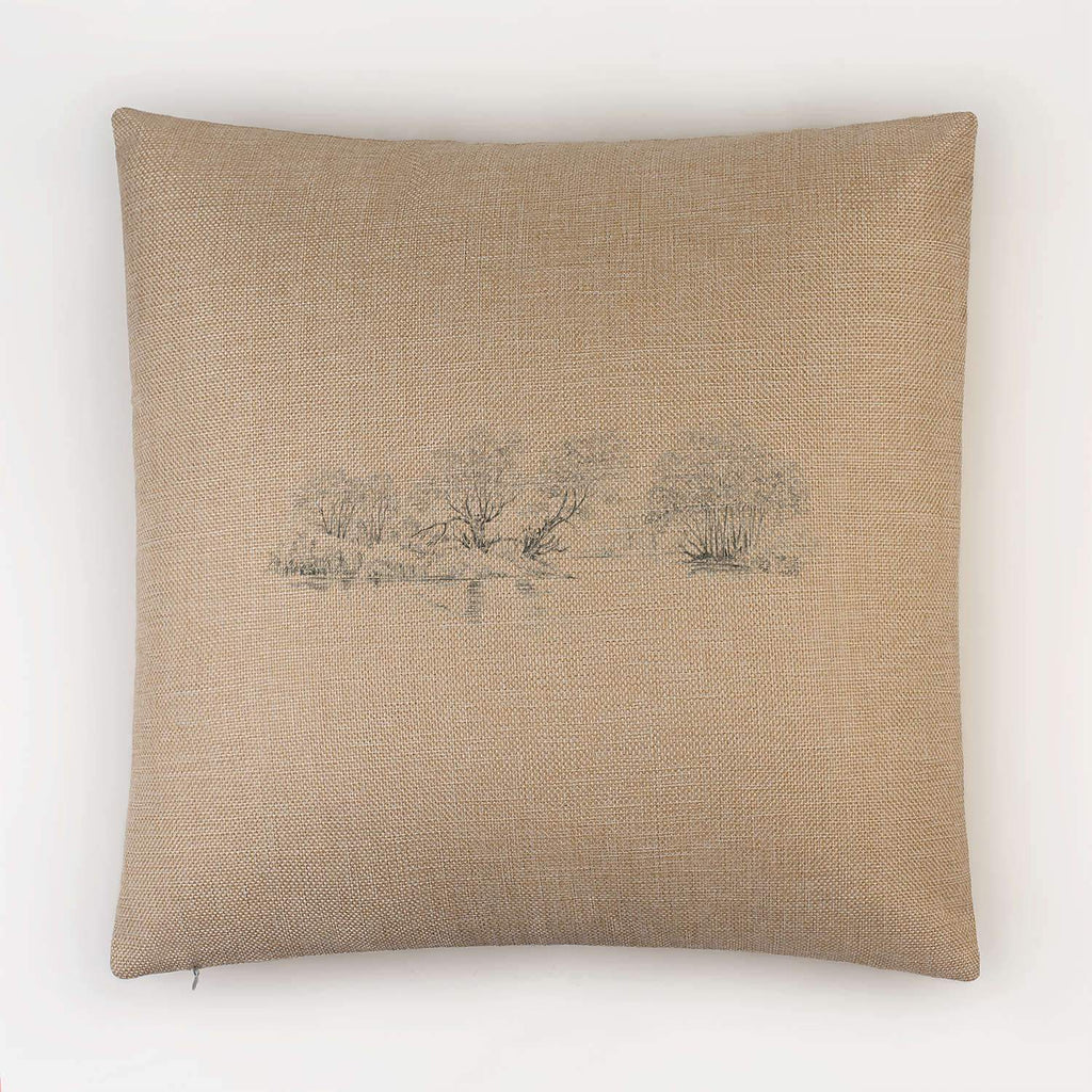 Trees and Pond Cushion - Countryman John