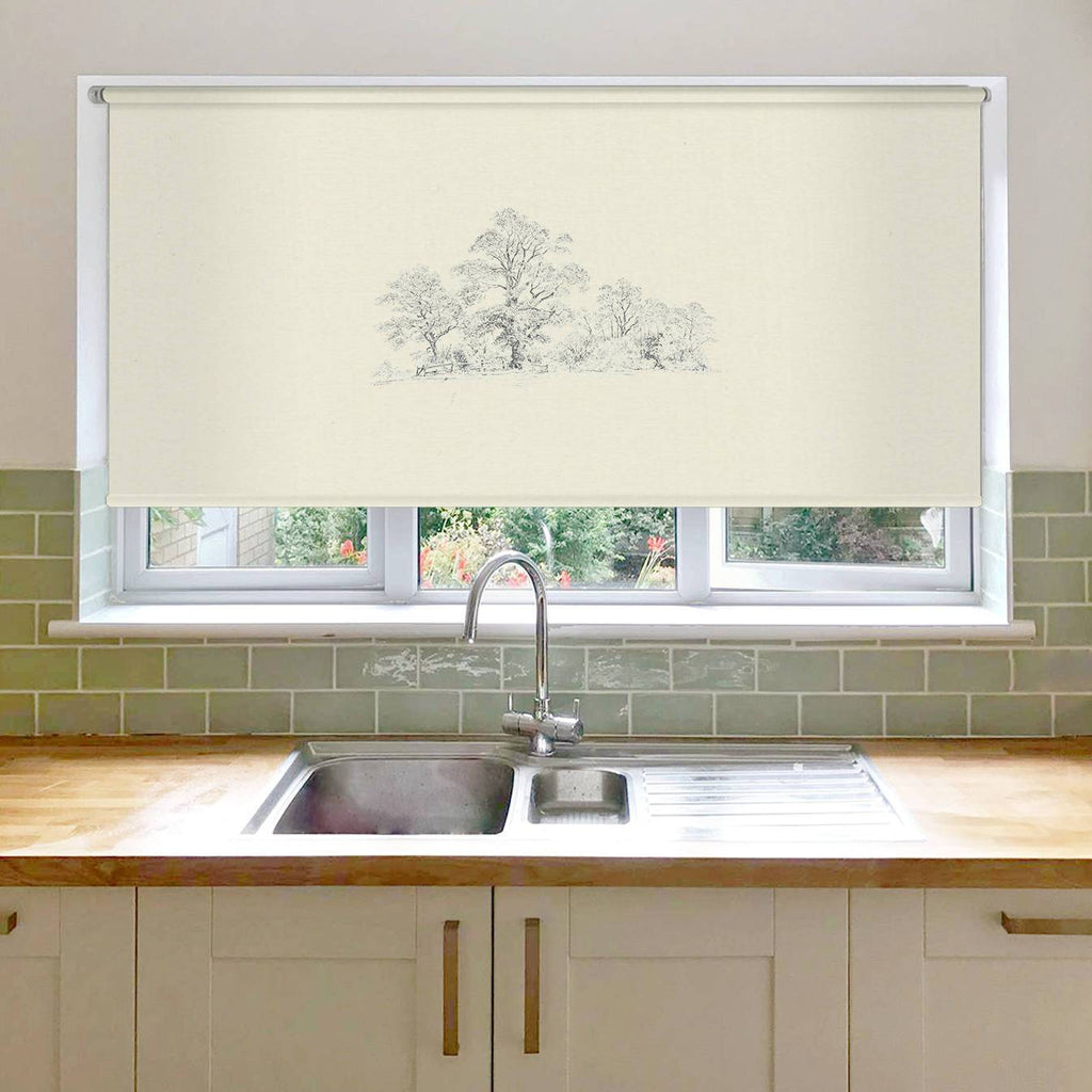 Wide Wood Roller Blind