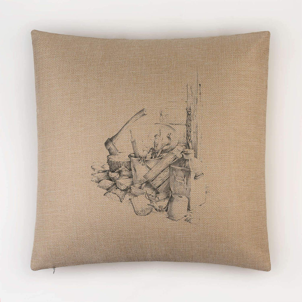 Woodpile and Axe Cushion - Countryman John