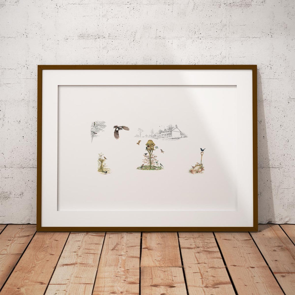 Birds of the Garden Wall Art Print - Countryman John