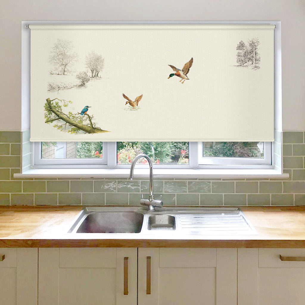 Kingfisher and Ducks Roller Blind