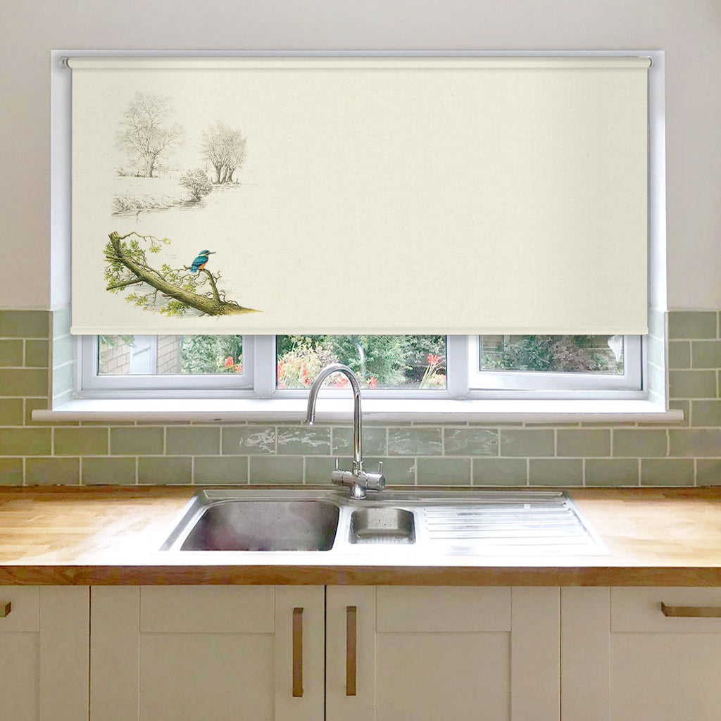 Kingfisher Alone Roller Blind