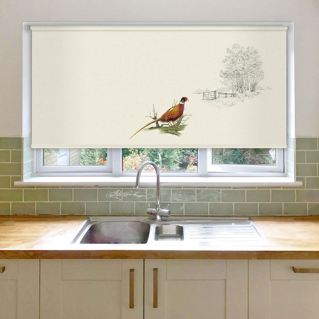 Pheasants Alone Roller Blind