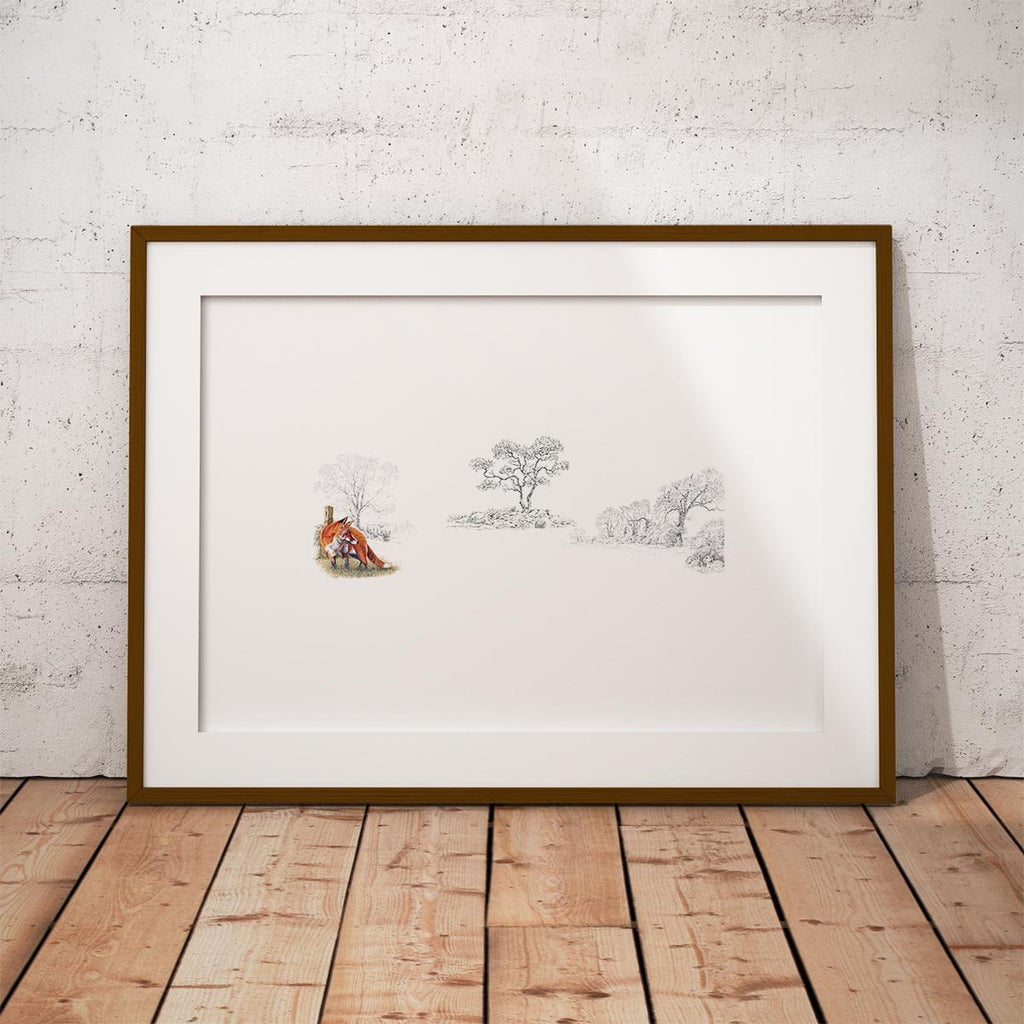 Fox and Rabbits Wall Art Print - Countryman John
