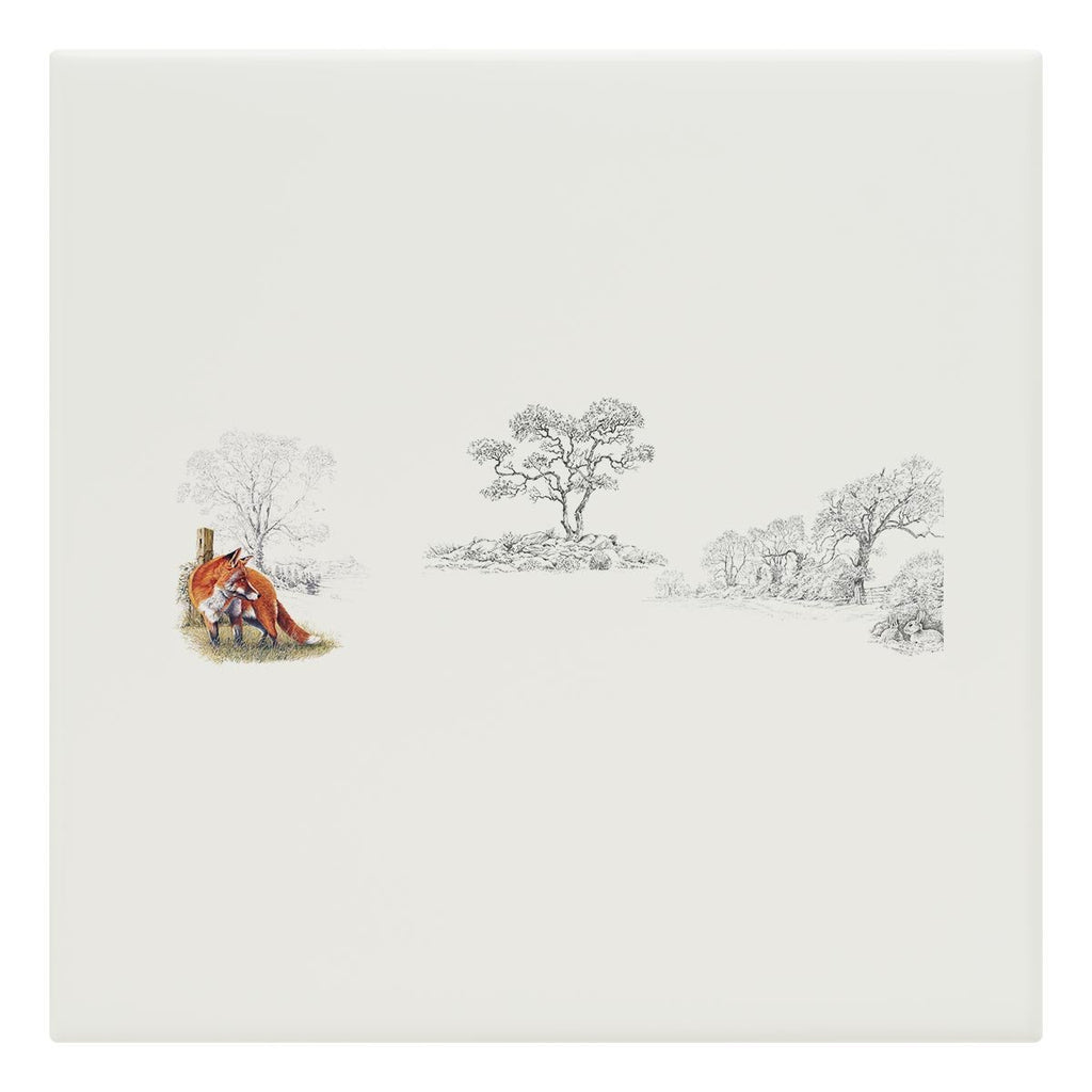 Fox and Rabbits Tile - Countryman John