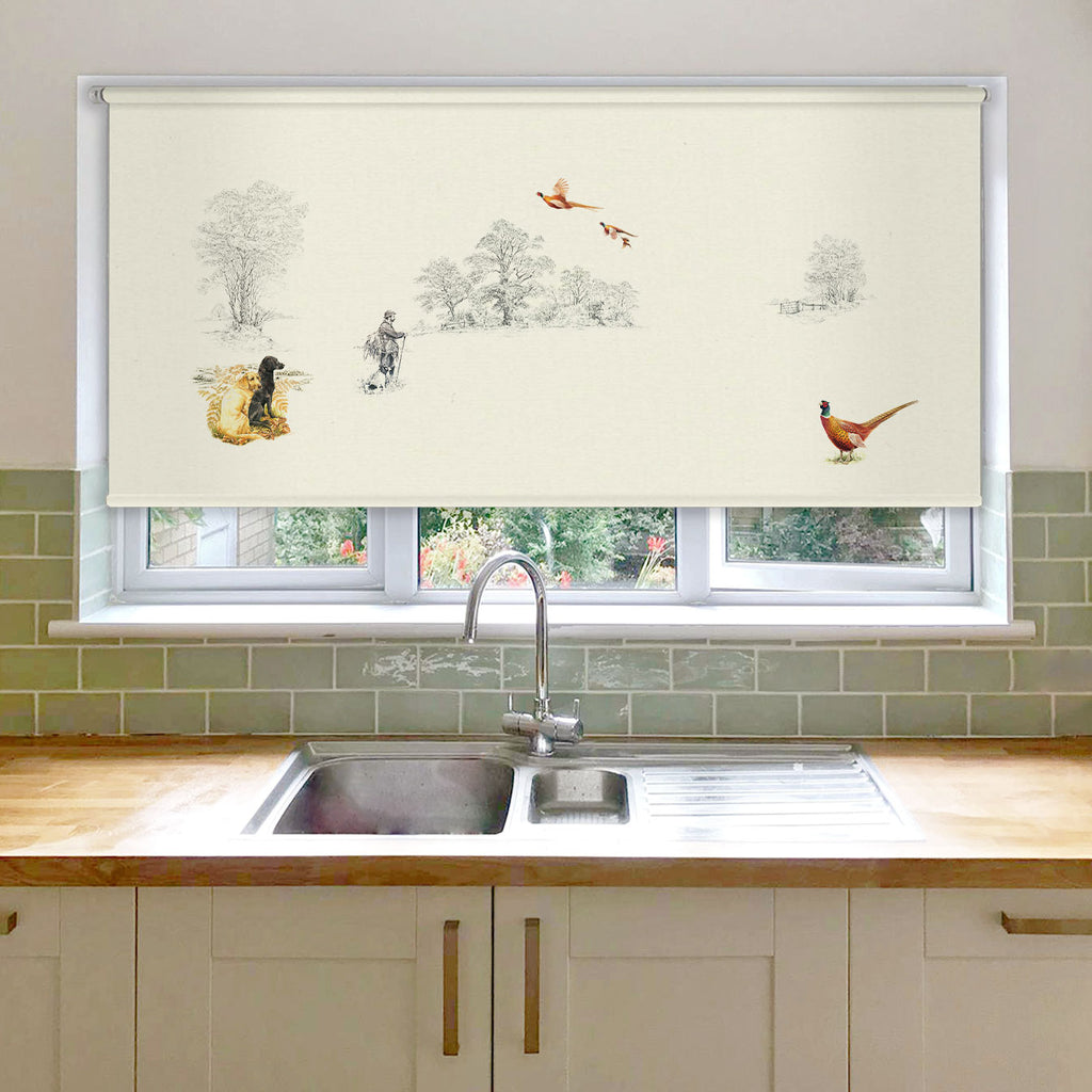 Pheasants and Shoot Roller Blind
