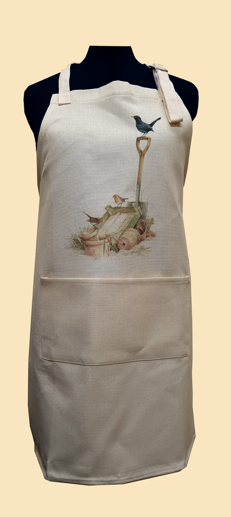 Blackbird and Robin Apron