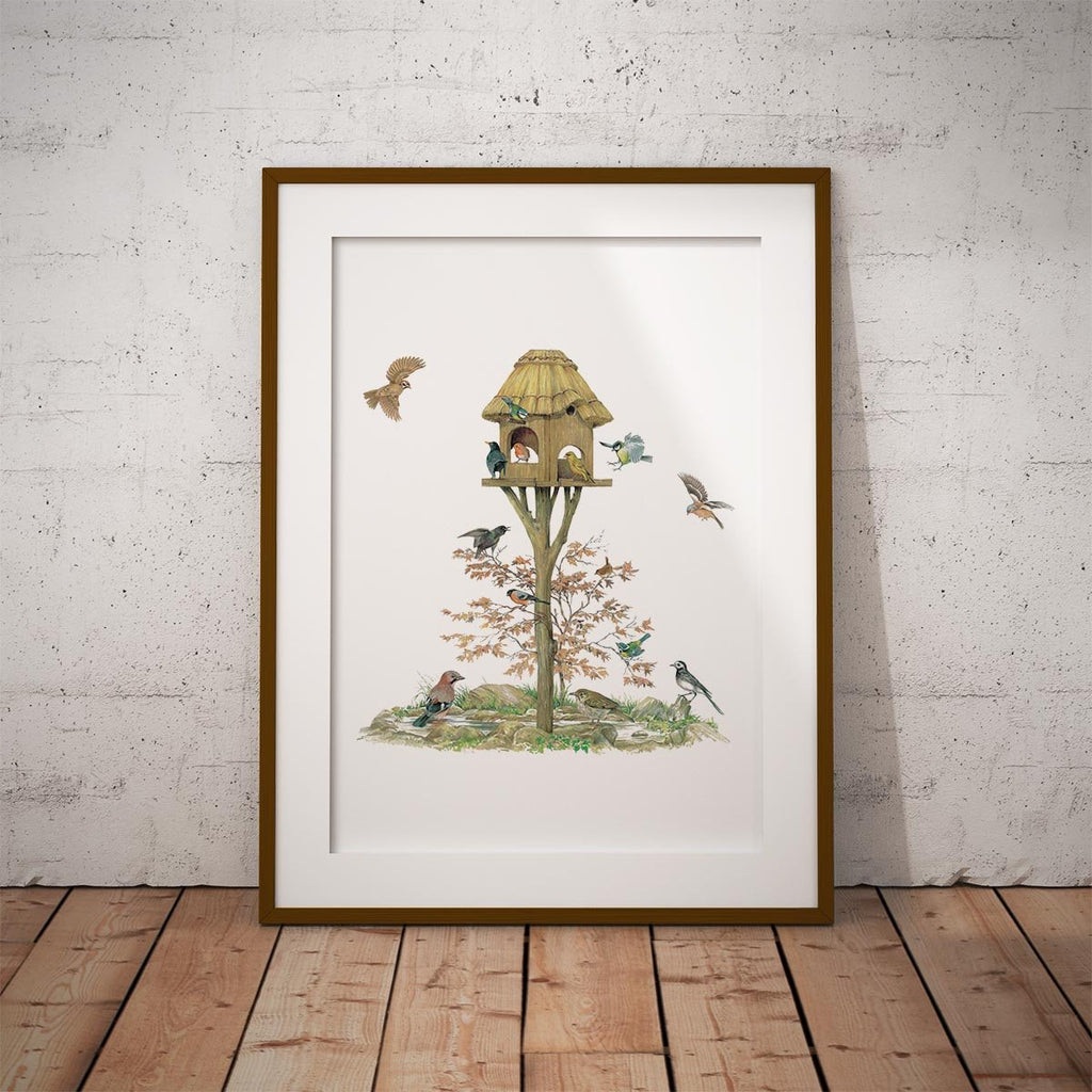Feeding Birds Wall Art Print - Countryman John