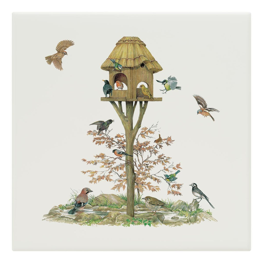 Feeding Birds Tile - Countryman John