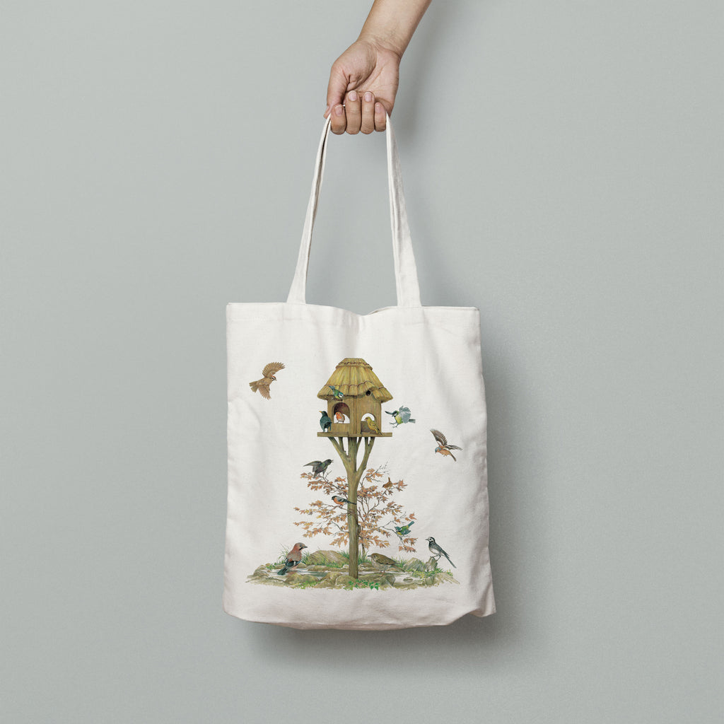 Feeding Birds Tote Bag
