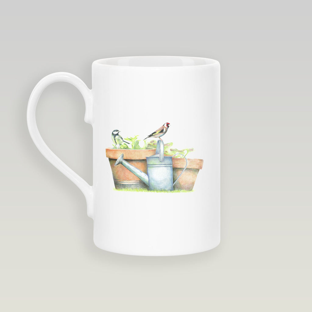 Great Tit and Goldfinch Slim Mug - Countryman John