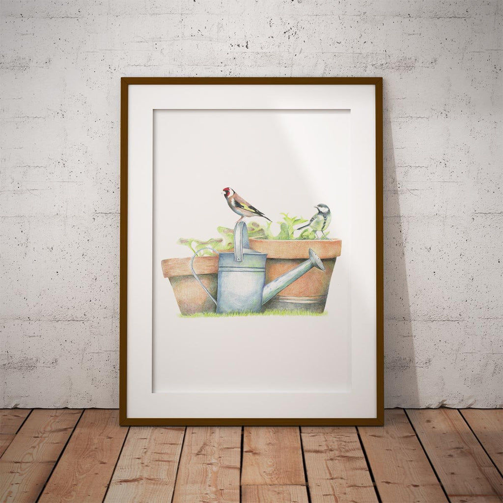 Great Tit and Goldfinch Wall Art Print - Countryman John