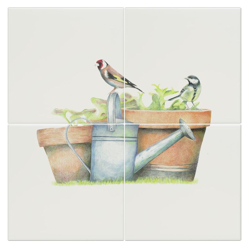 Great Tit and Goldfinch Tile - Countryman John