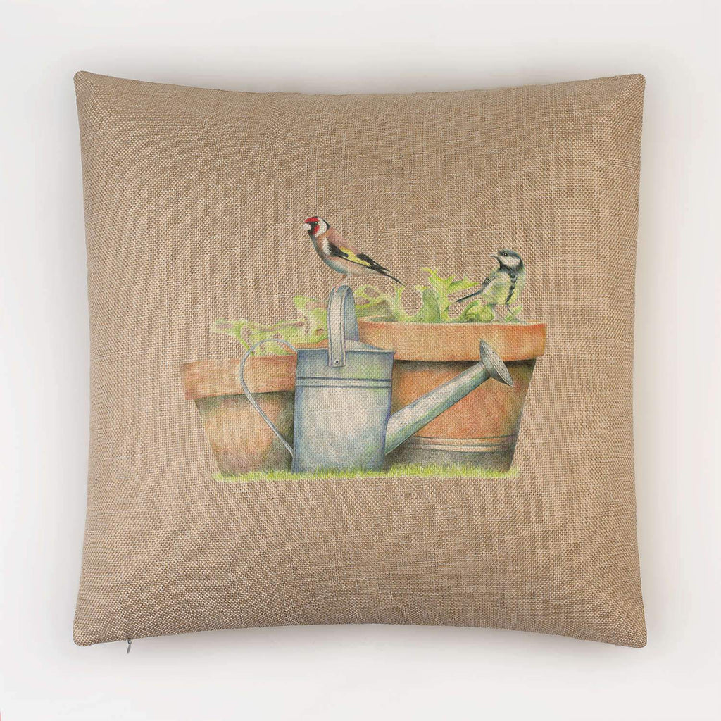 Great Tit and Goldfinch Cushion - Countryman John