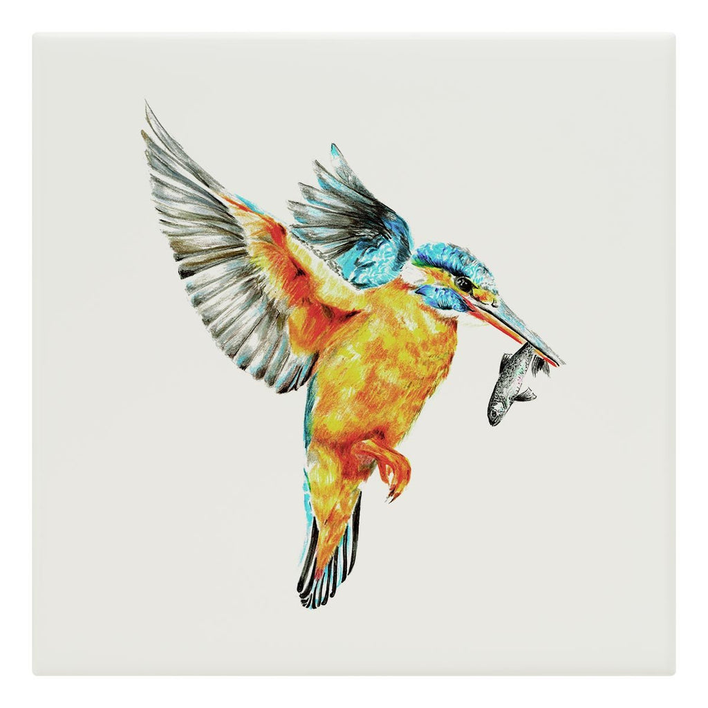 Kingfisher in Flight Tile - Countryman John