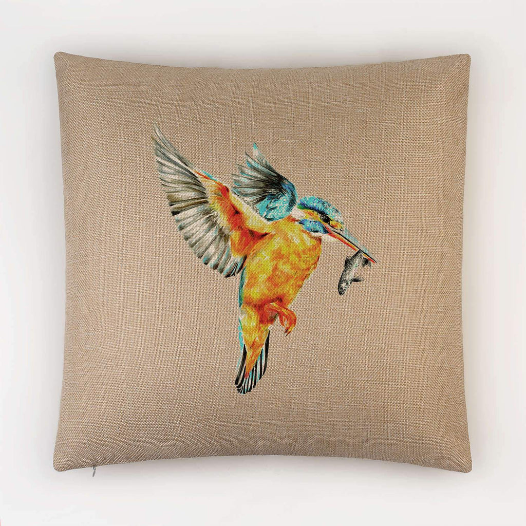 Kingfisher in Flight Cushion - Countryman John