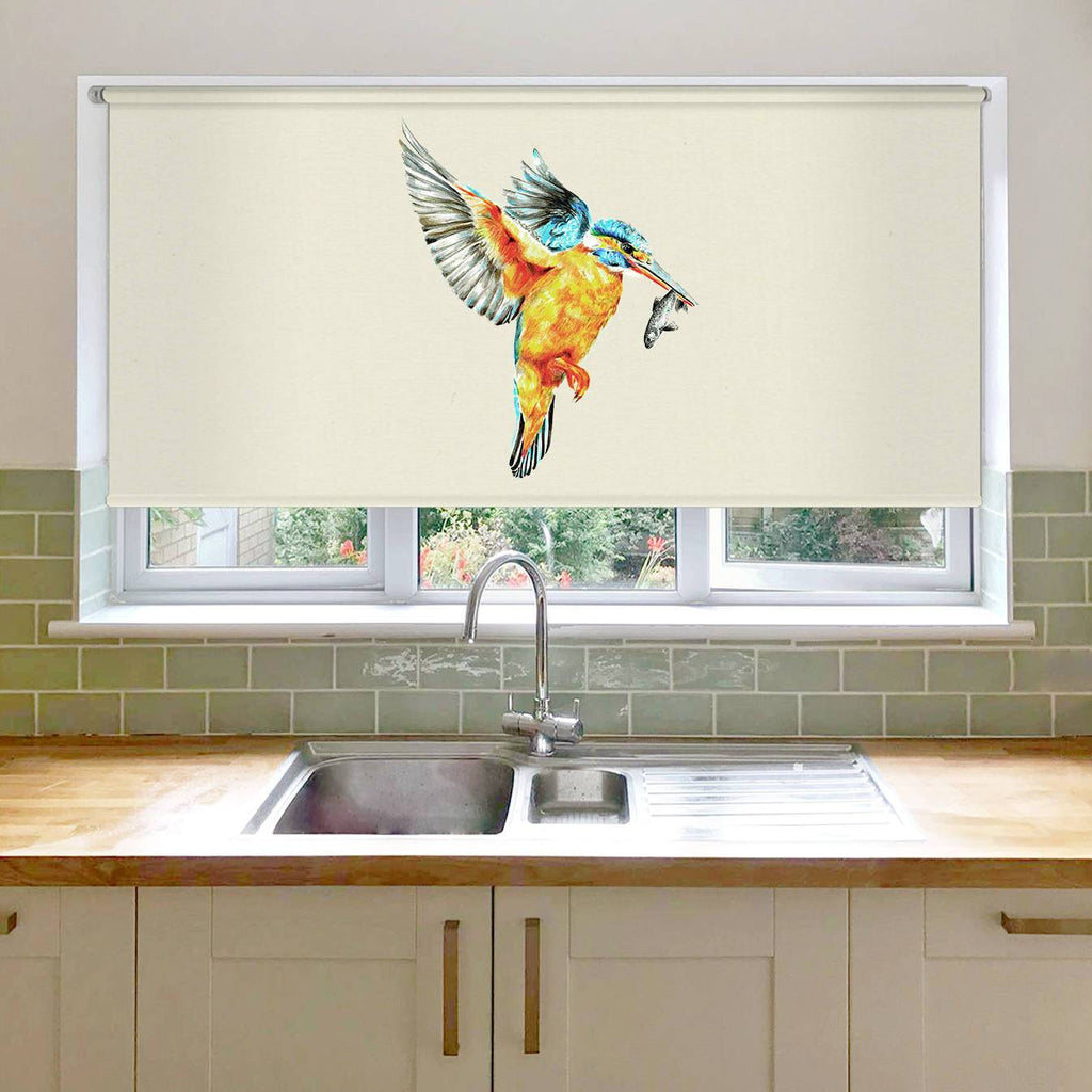 Kingfisher in Flight Roller Blind