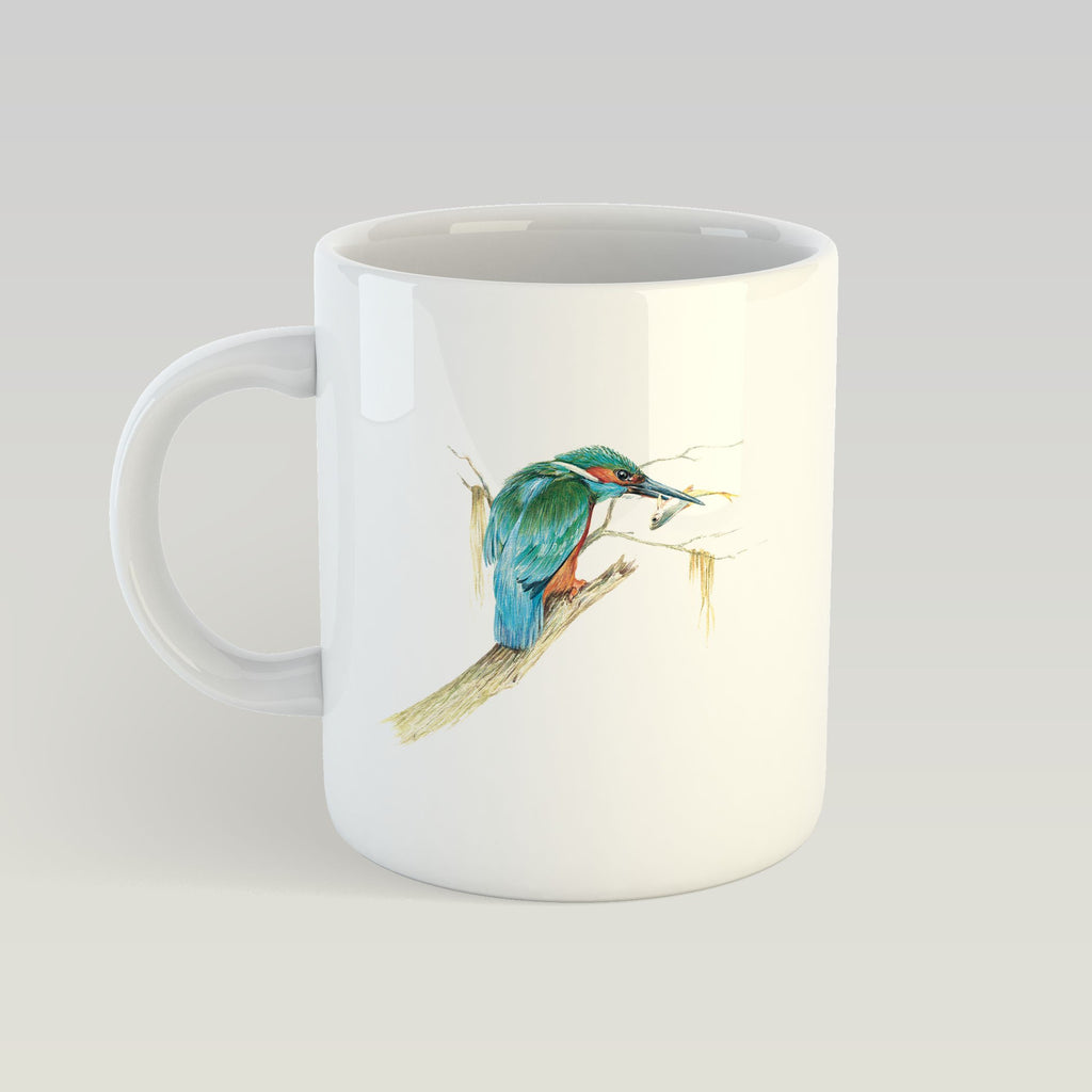 Kingfisher with Catch Mug - Countryman John