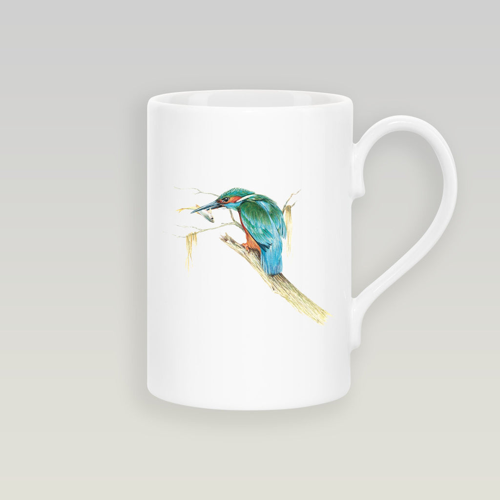 Kingfisher with Catch Slim Mug - Countryman John