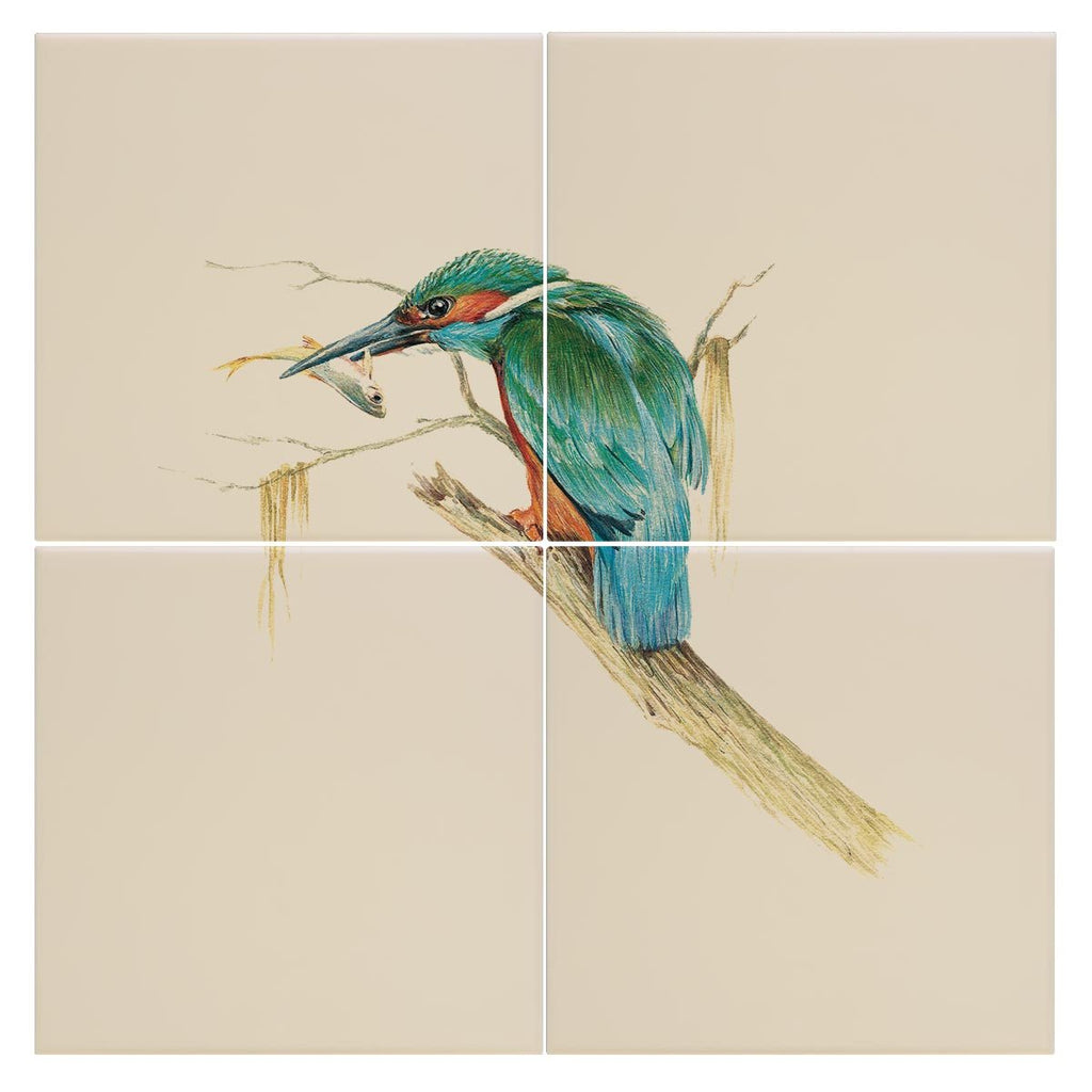Kingfisher with Catch Tile - Countryman John