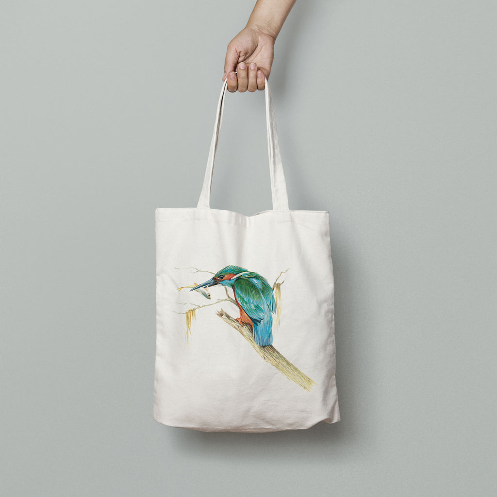 Kingfisher with Catch Tote Bag