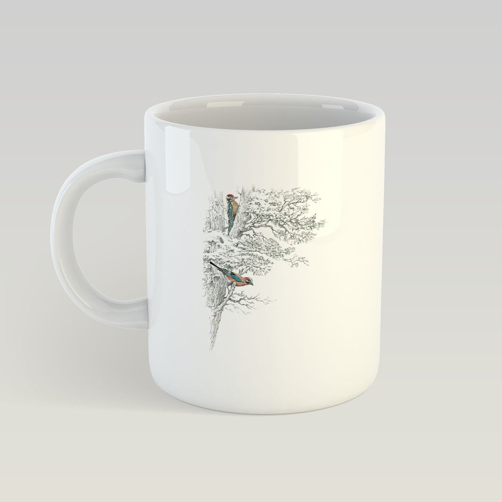 Wood Pecker in Tree Mug - Countryman John