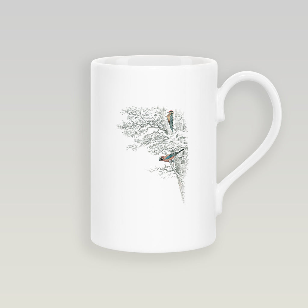 Wood Pecker in Tree Slim Mug - Countryman John
