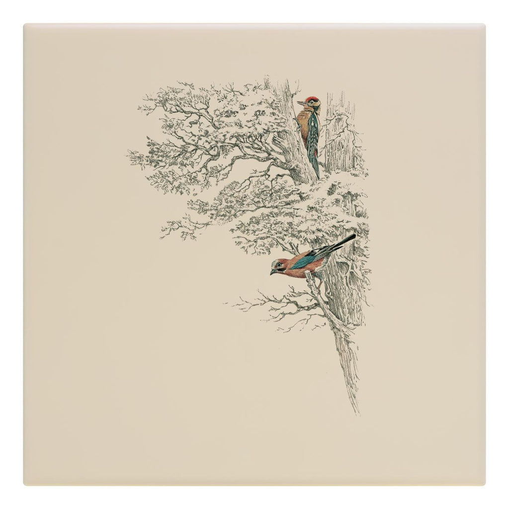 Wood Pecker in Tree Tile - Countryman John