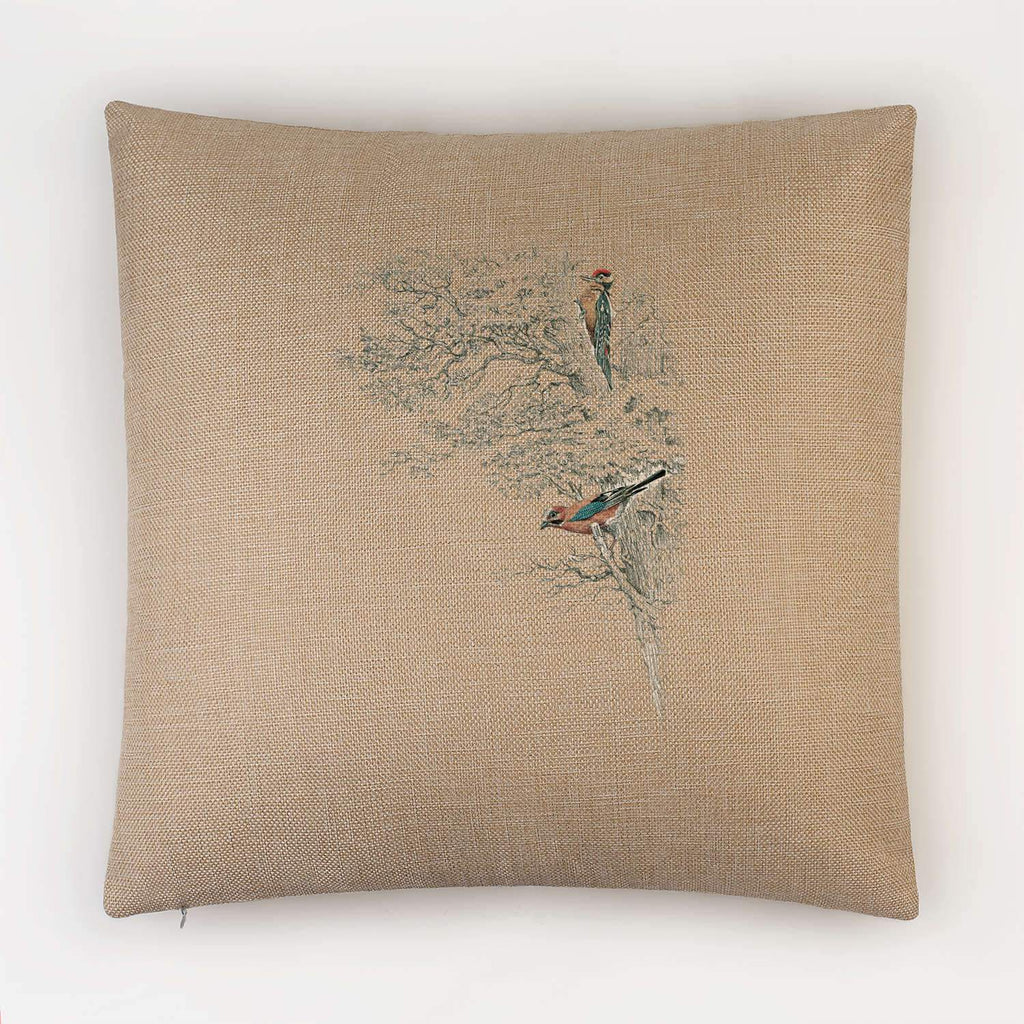 Wood Pecker in Tree Cushion - Countryman John