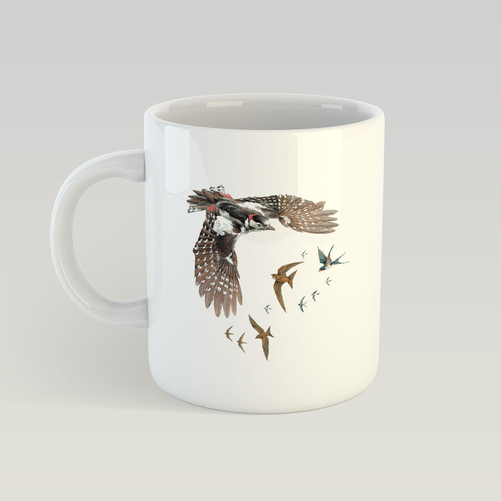 Woodpecker Swallows and Swifts Mug - Countryman John