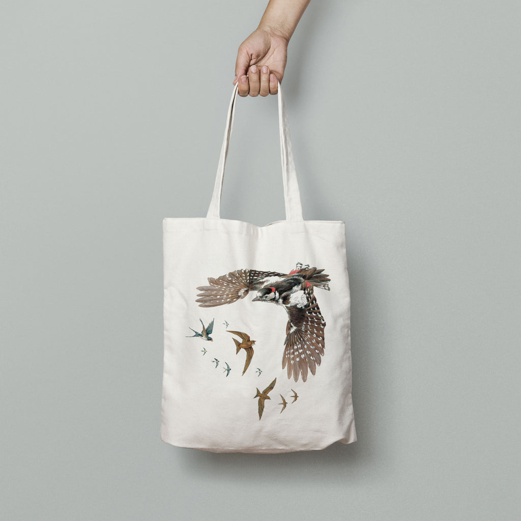 Woodpecker Swallows and Swifts Tote Bag