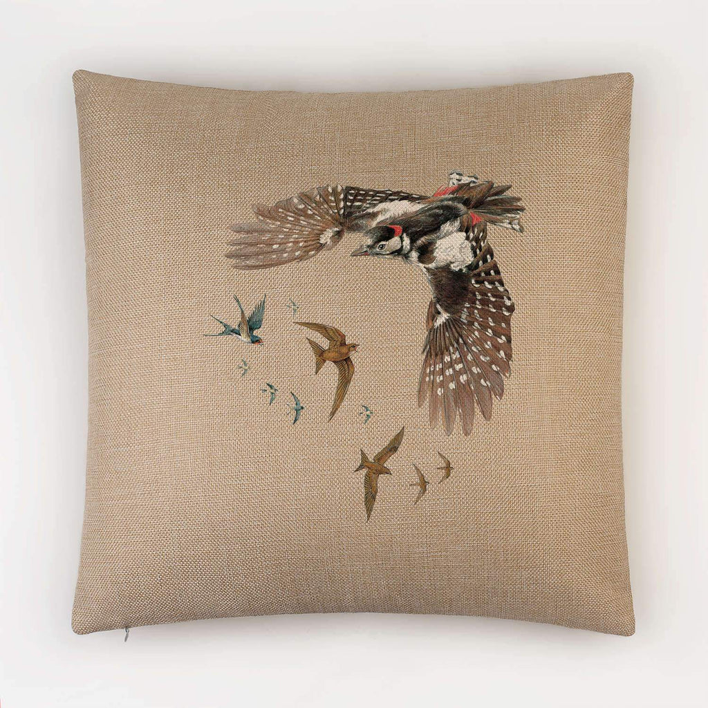 Woodpecker Swallows and Swifts Cushion - Countryman John
