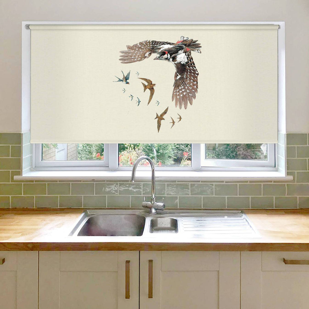 Woodpecker Swallows and Swifts Roller Blind