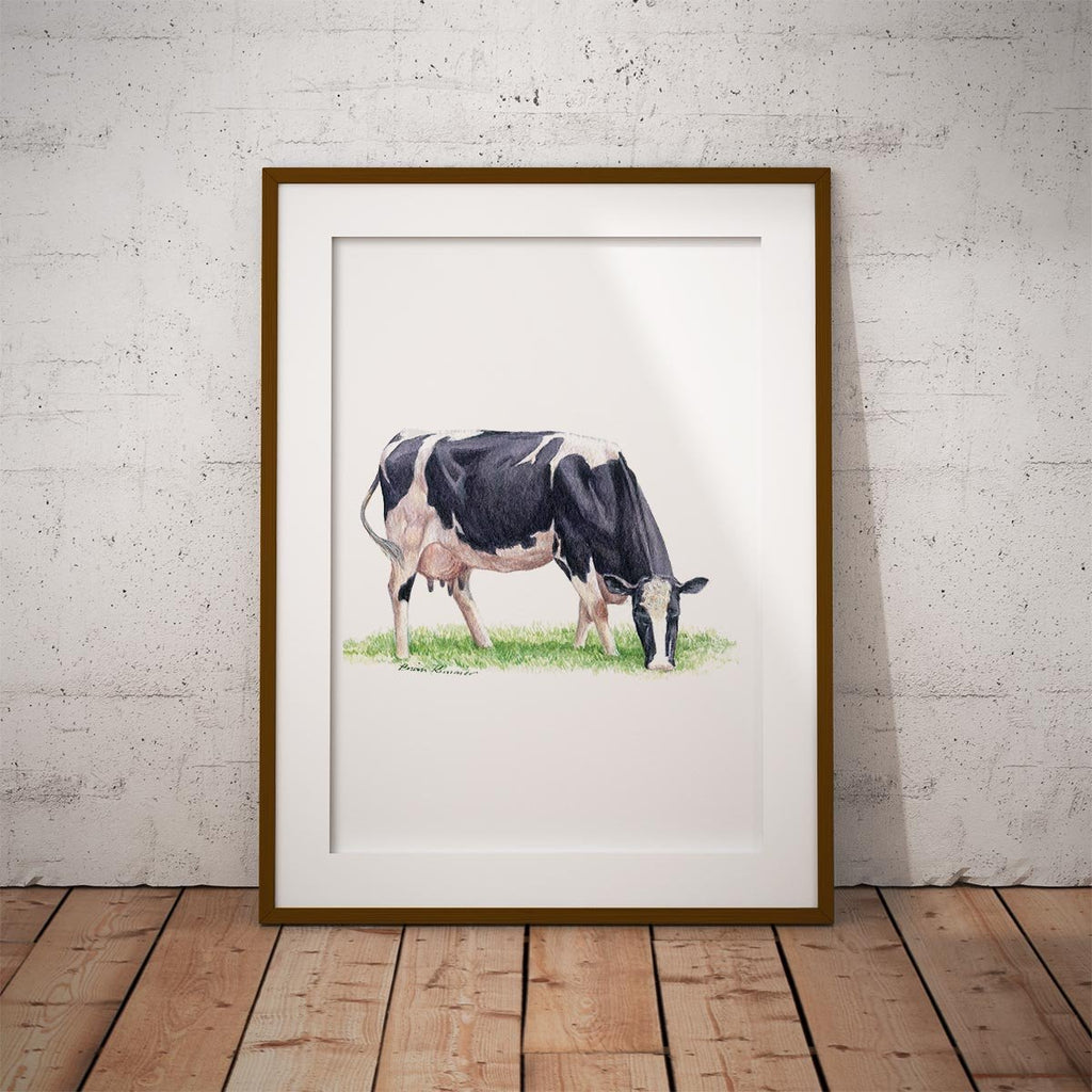 Fresian Cow Wall Art Print - Countryman John