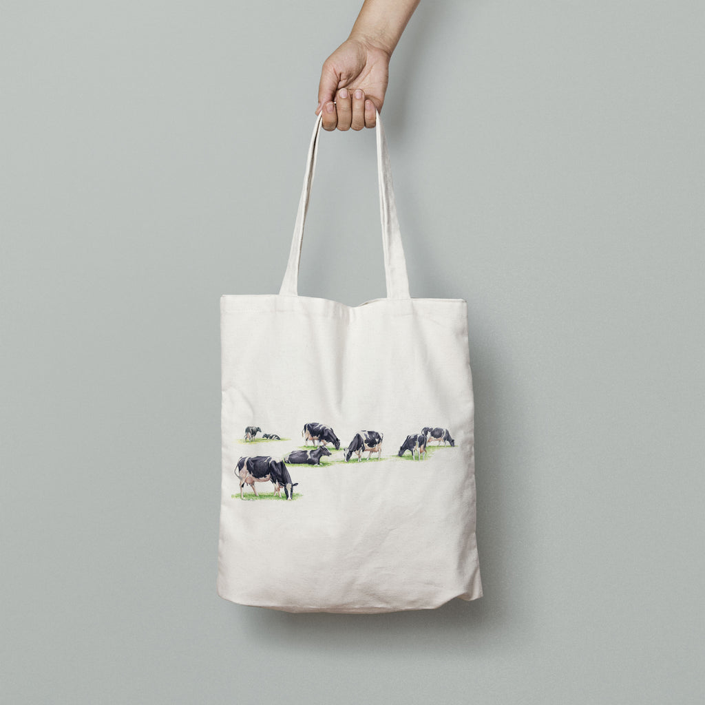 Multiple Grazing Cows Tote Bag