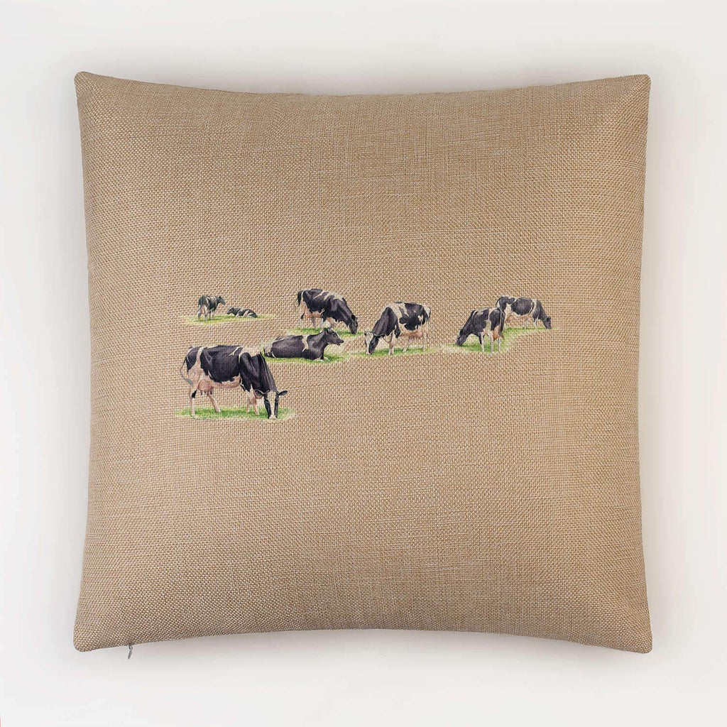 Multiple Grazing Cows Cushion - Countryman John