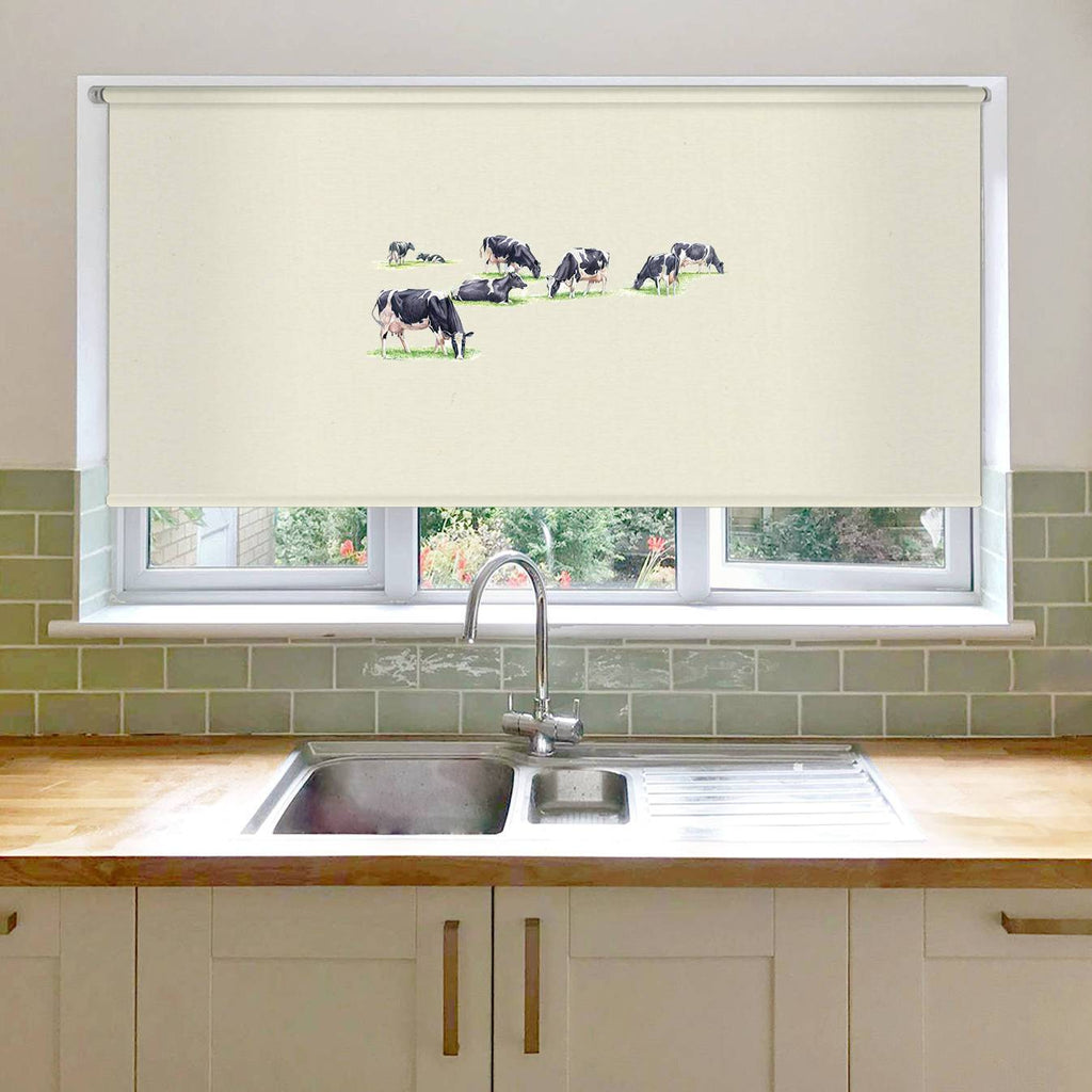 Multiple Grazing Cows Roller Blind