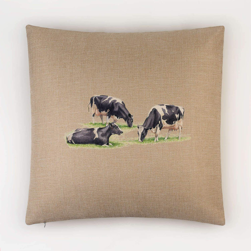 Three Fresian Cows Cushion - Countryman John
